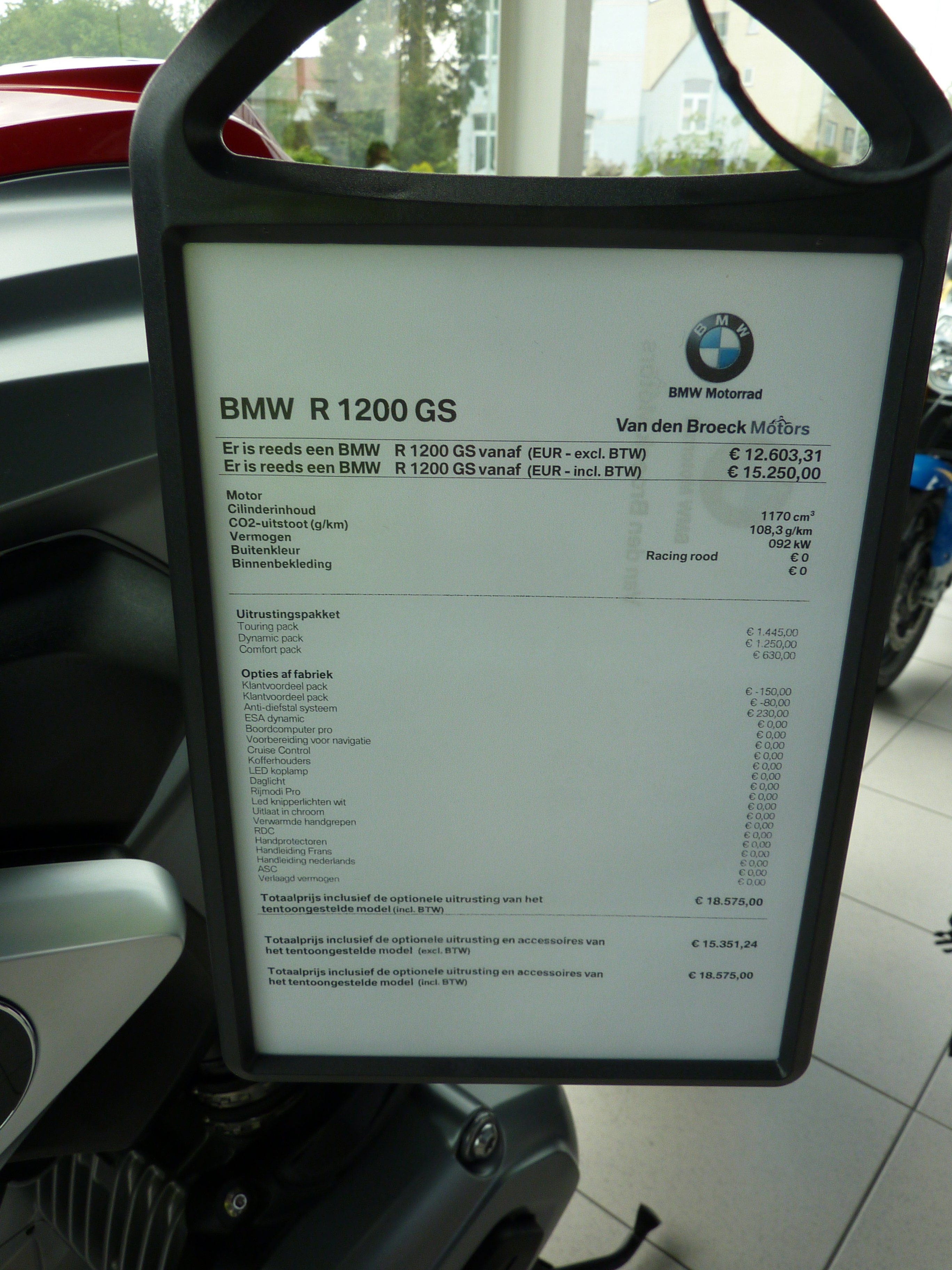 BMW GS 1200? Prijzige zaak, jammer!